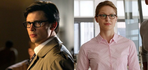 Clark Kent (Smallville) and  Kara Zor-El (Supergirl)